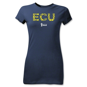 Ecuador 2014 FIFA World Cup Brazil(TM) Jr Women's Elements T-Shirt (Navy)