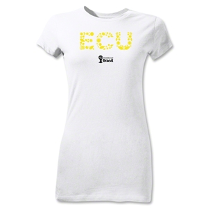 Ecuador 2014 FIFA World Cup Brazil(TM) Jr Women's Elements T-Shirt (White)