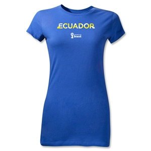 Ecuador 2014 FIFA World Cup Brazil(TM) Jr Women's Palm T-Shirt (Royal)