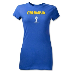 Colombia 2014 FIFA World Cup Brazil(TM) Jr Women's Core T-Shirt (Royal)