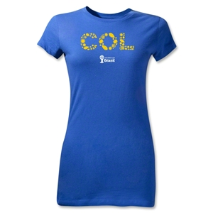Colombia 2014 FIFA World Cup Brazil(TM) Jr Women's Elements T-Shirt (Royal)