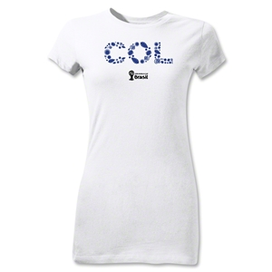 Colombia 2014 FIFA World Cup Brazil(TM) Jr Women's Elements T-Shirt (White)