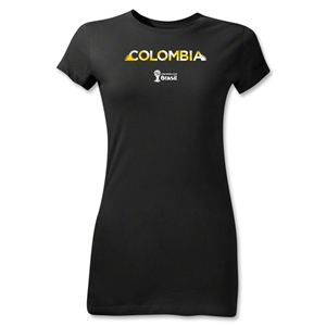 Colombia 2014 FIFA World Cup Brazil(TM) Jr Women's Palm T-Shirt (Black)