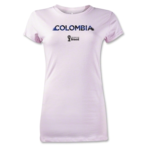 Colombia 2014 FIFA World Cup Brazil(TM) Jr Women's Palm T-Shirt (Pink)