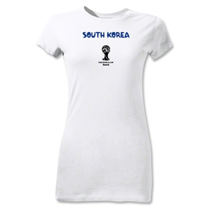 South Korea 2014 FIFA World Cup Brazil(TM) Junior Women's Core T-Shirt (White)