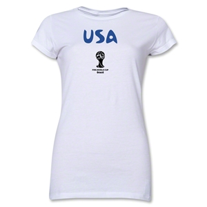 USA 2014 FIFA World Cup Brazil(TM) Junior Women's Core T-Shirt (White)