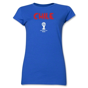 Chile 2014 FIFA World Cup Brazil(TM) Junior Women's Core T-Shirt (Royal)