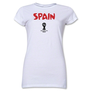 Spain 2014 FIFA World Cup Brazil(TM) Junior Women's Core T-Shirt (White)