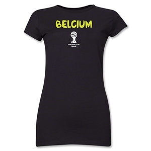 Belgium 2014 FIFA World Cup Brazil(TM) Junior Women's Core T-Shirt (Black)