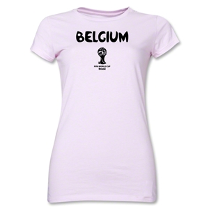 Belgium 2014 FIFA World Cup Brazil(TM) Junior Women's Core T-Shirt (Pink)