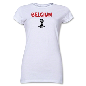 Belgium 2014 FIFA World Cup Brazil(TM) Junior Women's Core T-Shirt (White)