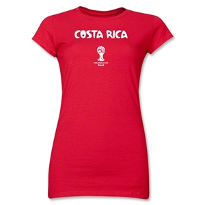 Costa Rica 2014 FIFA World Cup Brazil(TM) Jr. Women's Core T-Shirt (Red)