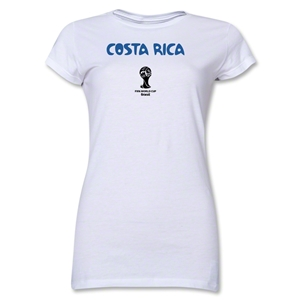 Costa Rica 2014 FIFA World Cup Brazil(TM) Jr. Women's Core T-Shirt (White)