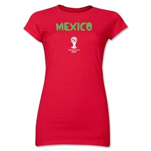 Mexico 2014 FIFA World Cup Brazil(TM) Junior Women's Core T-Shirt (Red)