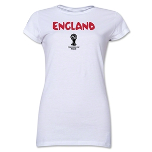 England 2014 FIFA World Cup Brazil(TM) Jr. Women's Core T-Shirt (White)