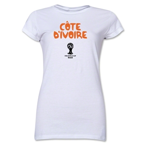 Cote d'Ivoire 2014 FIFA World Cup Brazil(TM) Jr. Women's Core T-Shirt (White)