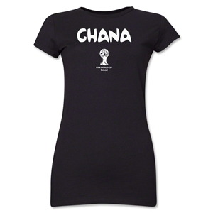 Ghana 2014 FIFA World Cup Brazil(TM) Jr. Women's Core T-Shirt (Black)