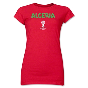 Algeria 2014 FIFA World Cup Brazil(TM) Jr. Women's Core T-Shirt (Red)