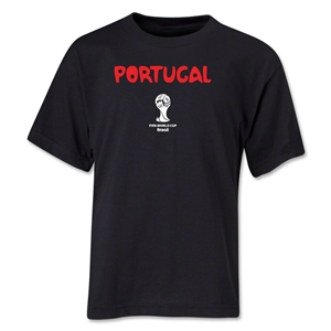 Portugal 2014 FIFA World Cup Brazil(TM) Jr. Women's Core T-Shirt (Black)