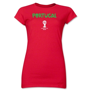 Portugal 2014 FIFA World Cup Brazil(TM) Jr. Women's Core T-Shirt (Red)