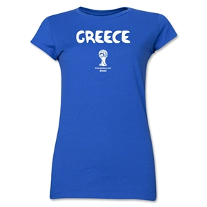 Greece 2014 FIFA World Cup Brazil(TM) Jr. Women's Core T-Shirt (Royal)