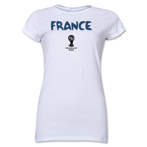 France 2014 FIFA World Cup Brazil(TM) Jr. Women's Core T-Shirt (White)