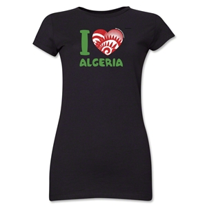 I Heart Algeria 2014 FIFA World Cup Brazil(TM) Jr. Women's T-Shirt (Black)