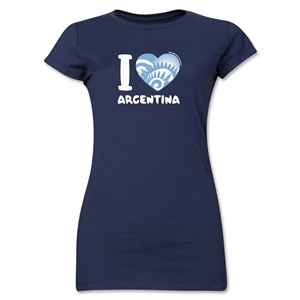 I Heart Argentina 2014 FIFA World Cup Brazil(TM) Jr. Women's T-Shirt (Navy)