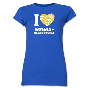 I Heart Bosnia-Herzegovina 2014 FIFA World Cup Brazil(TM) Jr. Women's T-Shirt (Royal)
