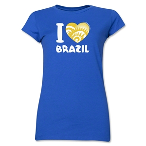 I Heart Brazil 2014 FIFA World Cup Brazil(TM) Jr. Women's T-Shirt (Royal)