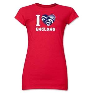I Heart England 2014 FIFA World Cup Brazil(TM) Jr. Women's T-Shirt (Red)