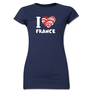 I Heart France 2014 FIFA World Cup Brazil(TM) Jr. Women's T-Shirt (Navy)