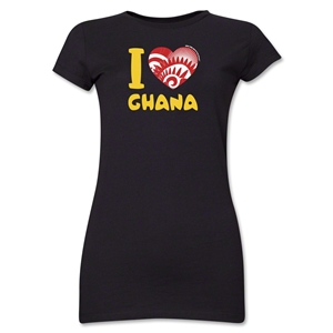 I Heart Ghana 2014 FIFA World Cup Brazil(TM) Jr. Women's T-Shirt (Black)