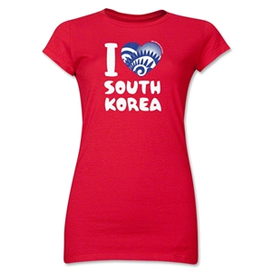 I Heart South Korea 2014 FIFA World Cup Brazil(TM) Jr. Women's T-Shirt (Red)