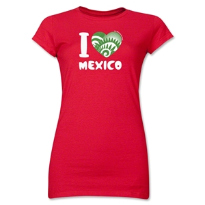 I Heart Mexico 2014 FIFA World Cup Brazil(TM) Jr. Women's T-Shirt (Red)