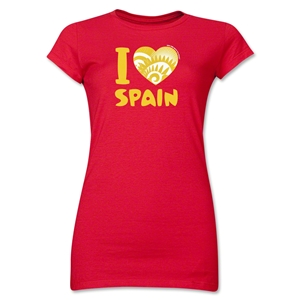 I Heart Spain 2014 FIFA World Cup Brazil(TM) Jr. Women's T-Shirt (Red)