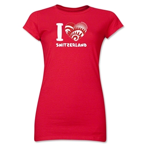 I Heart Switzerland 2014 FIFA World Cup Brazil(TM) Jr. Women's T-Shirt (Red)