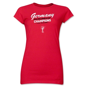Germany 2014 FIFA World Cup Brazil(TM) Jr. Women's Champions T-Shirt (Red)