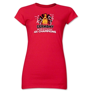 Germany 2014 FIFA World Cup Brazil(TM) Jr. Women's Champions Official Look Trophy T-Shirt (Red)