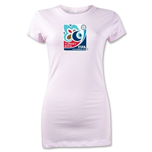 FIFA U-20 World Cup Turkey 2013 Junior Women's Emblem T-Shirt (Pink)