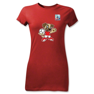 FIFA U-20 World Cup Turkey Junior Women's Mascot T-Shirt (Red)