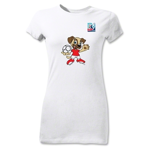 FIFA U-20 World Cup Turkey Junior Women's Mascot T-Shirt (White)