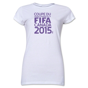FIFA Women's World Cup Canada 2015(TM) Junior Women's French Logotype T-Shirt (White)