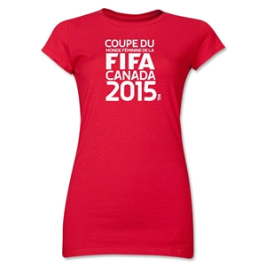 FIFA Women's World Cup Canada 2015(TM) Junior Women's French Logotype T-Shirt (Red)
