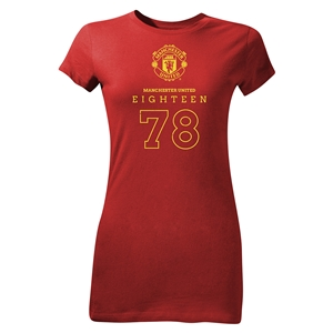 Manchester United Eighteen 78 Junior Women's T-Shirt (Red)