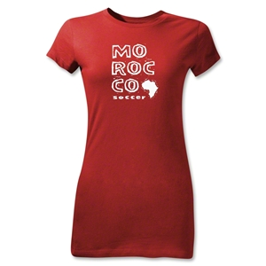 Morocco Junior Women's Country T-Shirt (Red)