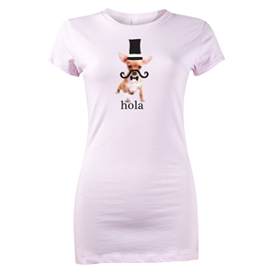 Hola Chihuahua Junior Women's T-Shirt (Pink)