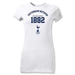 Tottenham Hotspurs Established 1882 Junior Women's T-Shirt (White)