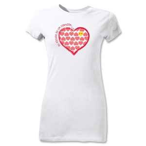 Chapulin Su Escuedo Junior Women's T-Shirt (White)