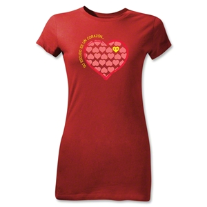 Chapulin Su Escuedo Junior Women's T-Shirt (Red)